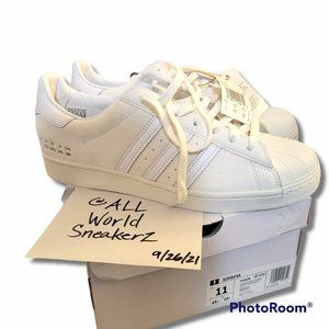adidas Superstar Shell toe 'Size Tag' Off White Leather Suede FY5478 Low Top